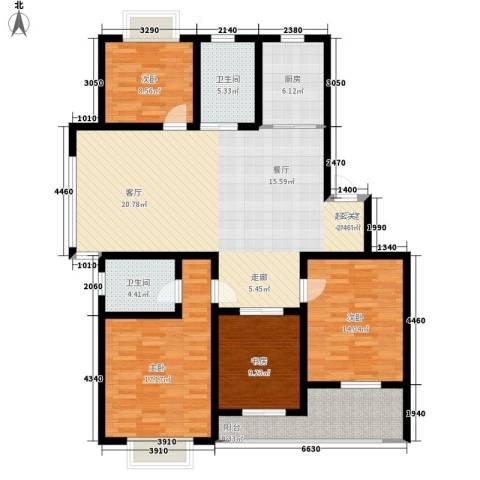 盛世名门4室0厅2卫1厨167.00㎡户型图