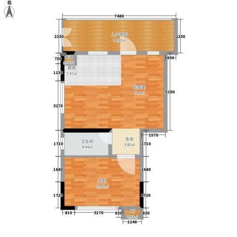 雪梨澳乡1室0厅1卫0厨70.35㎡户型图