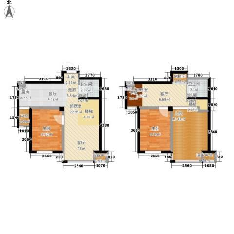 锦江I HOME2室0厅2卫0厨68.25㎡户型图