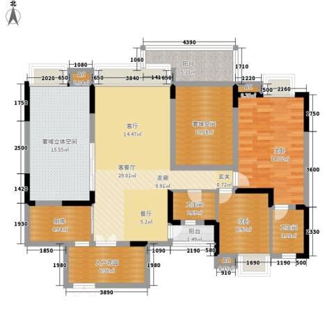 中海翠屏湾2室1厅2卫1厨120.00㎡户型图