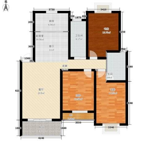 盛世名门3室0厅2卫1厨154.00㎡户型图