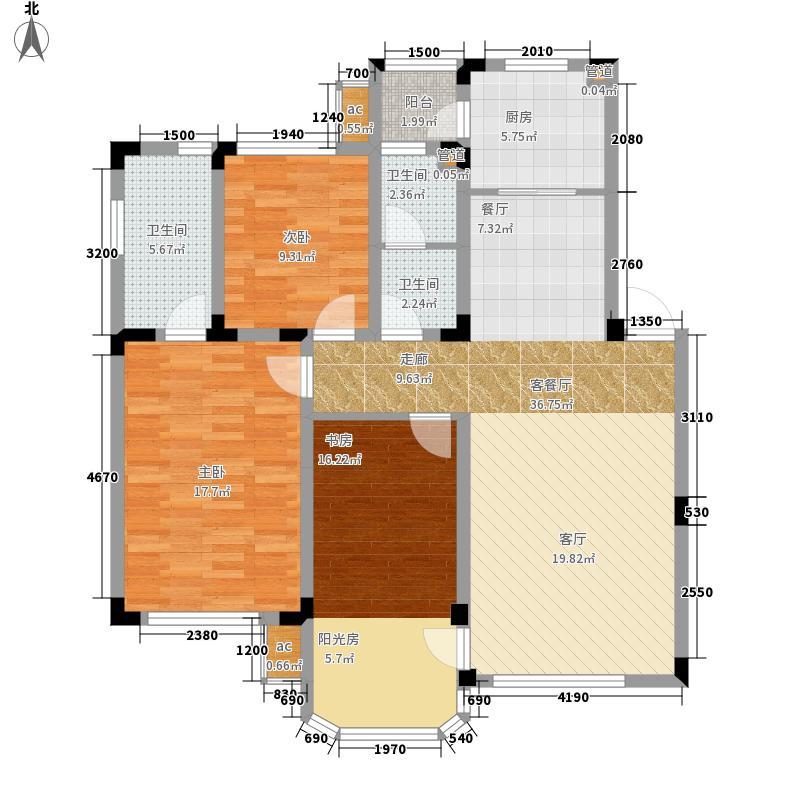 中海城125.00㎡D3户型3室2厅
