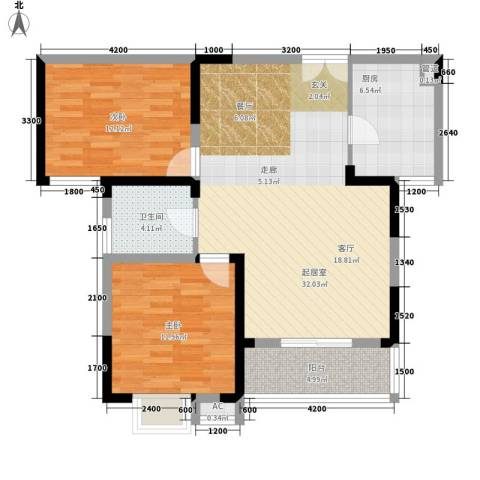 五九所2室0厅1卫1厨72.22㎡户型图