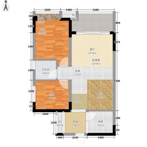 五九所2室0厅1卫1厨68.00㎡户型图