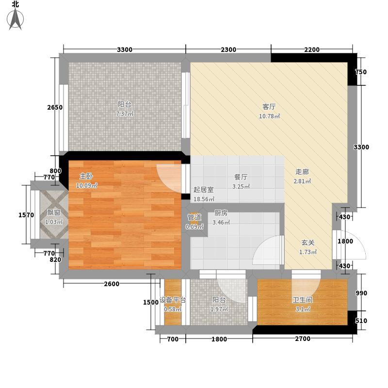 和泓南山道45.26㎡15号楼4、5、面积4526m户型