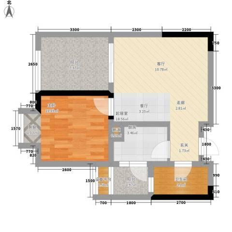 和泓南山道1室0厅1卫1厨45.23㎡户型图