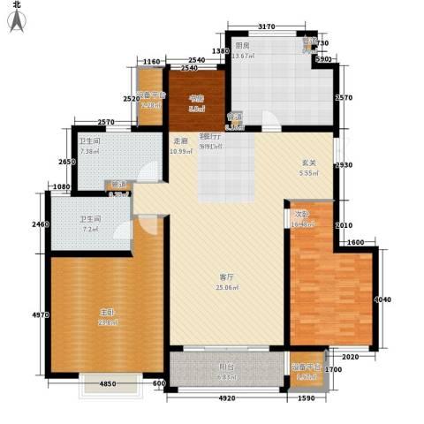 吉宝季景兰庭2室1厅2卫1厨134.48㎡户型图