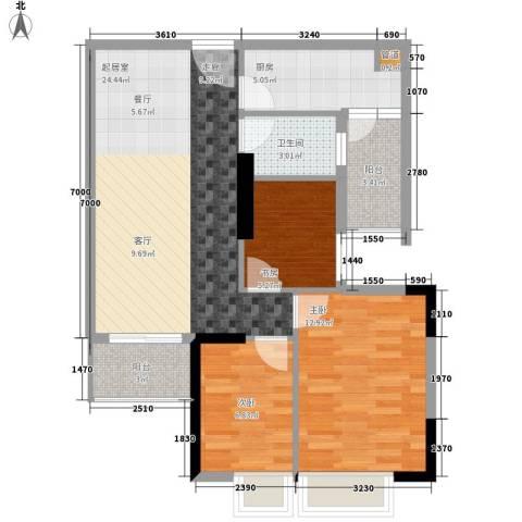 英豪花园3室0厅1卫1厨85.00㎡户型图
