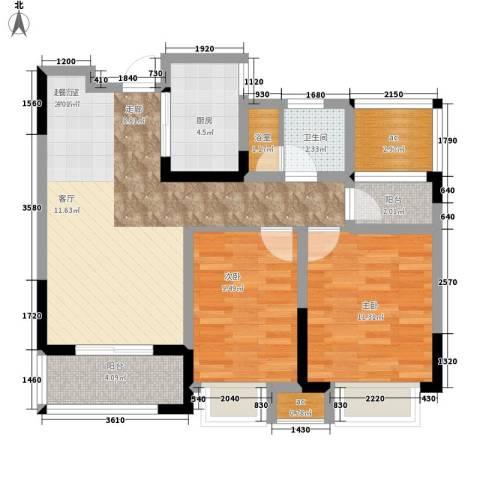 祥源城2室0厅1卫1厨84.00㎡户型图