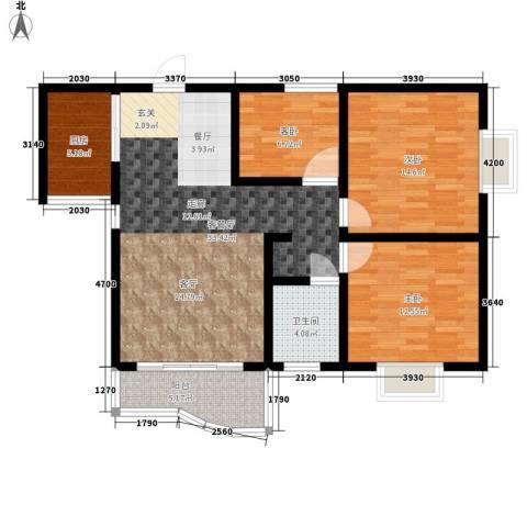 海德福苑3室1厅1卫1厨104.00㎡户型图