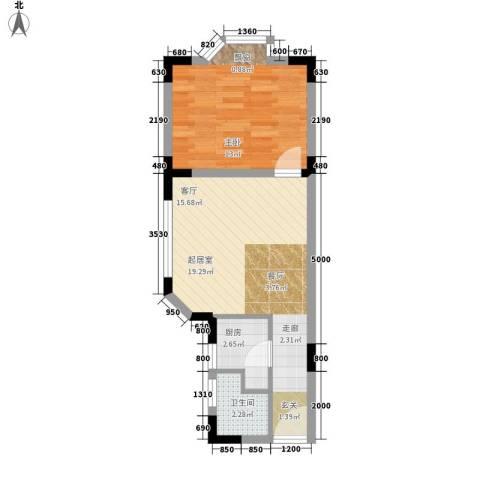 五九所1室0厅1卫1厨42.70㎡户型图