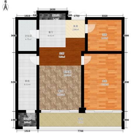 融基湖光山色2室0厅1卫1厨97.00㎡户型图