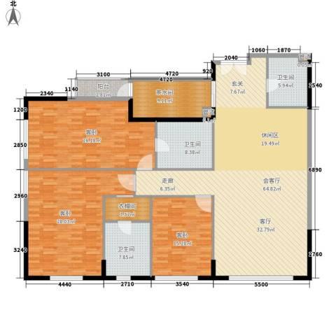 富力爱丁堡国际公寓3室0厅3卫0厨187.00㎡户型图