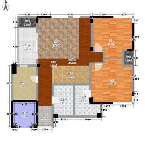 七里河小区2室0厅2卫1厨137.00㎡户型图