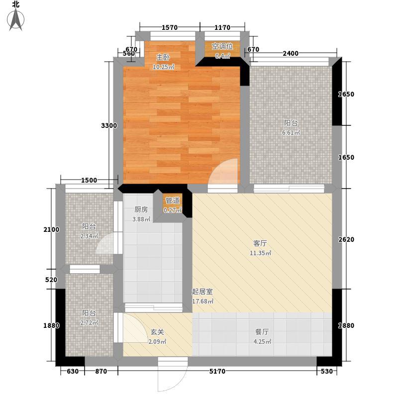 和泓南山道45.32㎡四期9号楼标准面积4532m户型