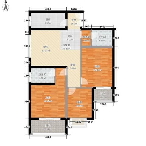 中菲香槟城3室0厅2卫1厨108.00㎡户型图