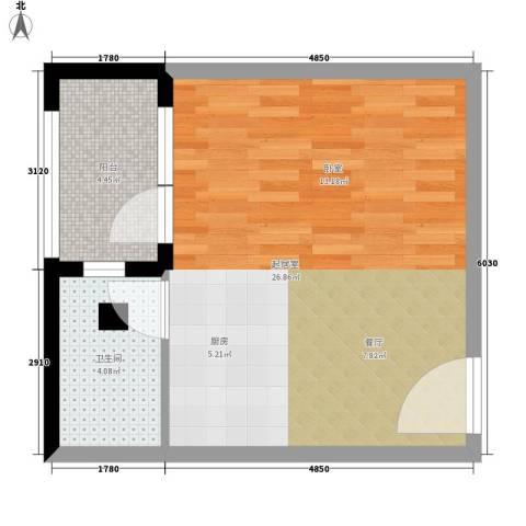 凯旋国际公寓1卫0厨42.00㎡户型图