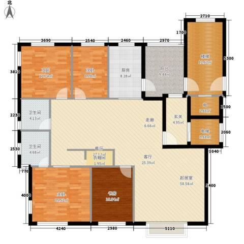 豪盛时代华城4室0厅2卫1厨157.00㎡户型图