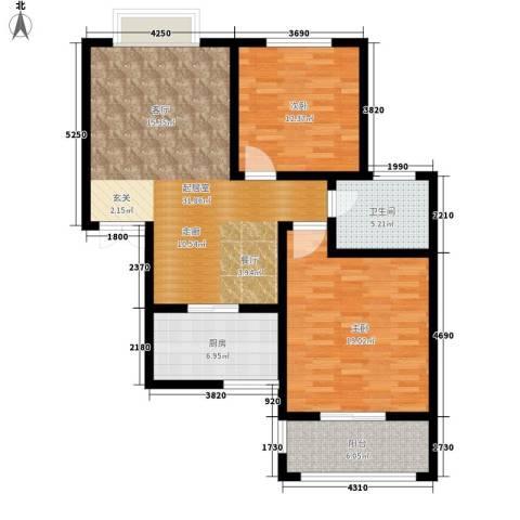 融基湖光山色2室0厅1卫1厨93.00㎡户型图
