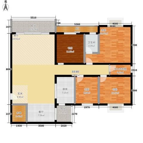 永定路西里4室0厅1卫1厨146.30㎡户型图