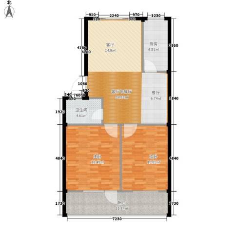 王冠花园2室0厅1卫1厨100.00㎡户型图