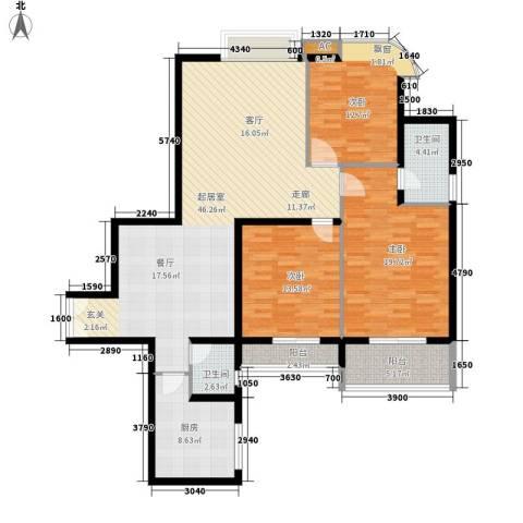 佳逸豪园3室0厅2卫1厨163.00㎡户型图