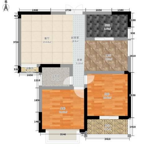 中天枫景2室0厅1卫1厨91.00㎡户型图