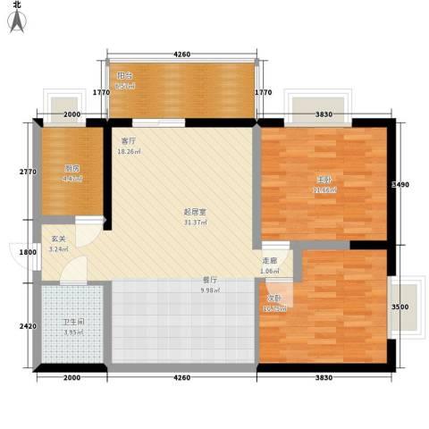 自由自宅2室0厅1卫1厨78.00㎡户型图