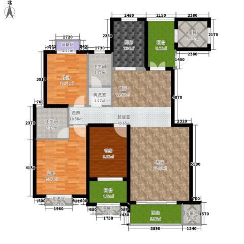 蓝山印象小区3室0厅2卫1厨139.92㎡户型图