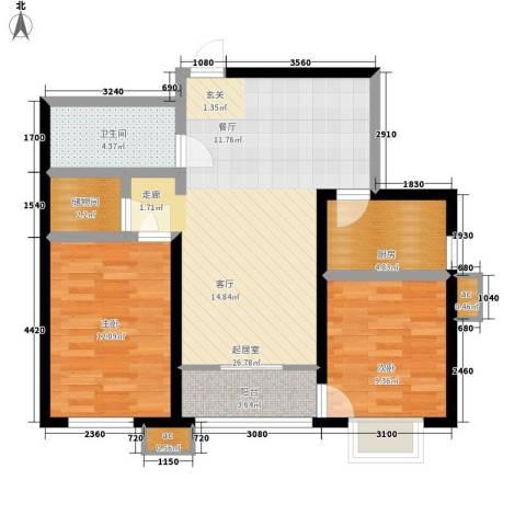 金洋华城2室0厅1卫1厨99.00㎡户型图