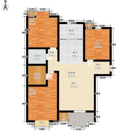 卡玛国际花园3室0厅2卫1厨129.00㎡户型图
