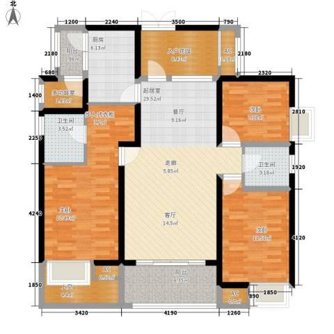 鲁能星城三街区3室0厅2卫1厨200.00㎡户型图