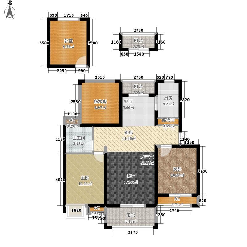 恒茂红谷新城95.00㎡恒茂红谷新城户型图二期A户型(8/26张)户型2室2厅1卫