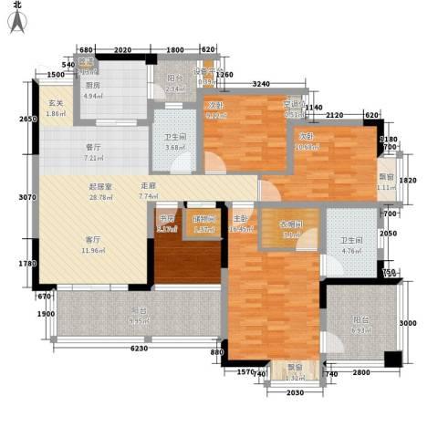 和泓南山道4室0厅2卫1厨107.84㎡户型图