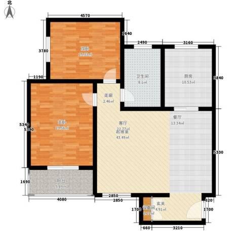 鑫和花园2室0厅1卫1厨116.00㎡户型图