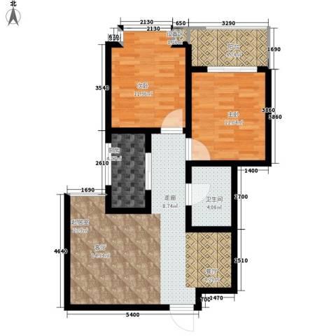 新旅城2室0厅1卫1厨83.00㎡户型图