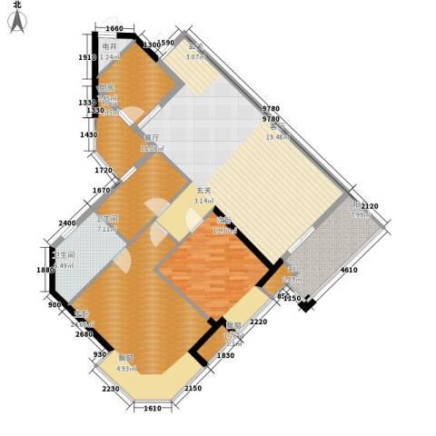 海伦堡御院2室0厅2卫1厨76.00㎡户型图