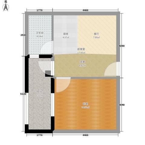 凯旋国际公寓1卫0厨60.00㎡户型图
