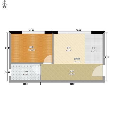 凯旋国际公寓1卫0厨47.00㎡户型图