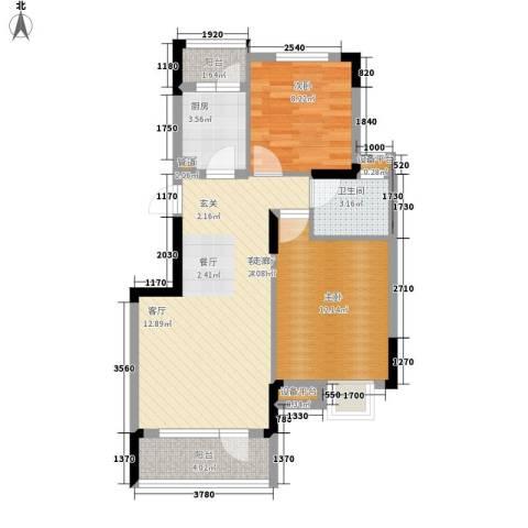 盘门路小区2室1厅1卫1厨64.00㎡户型图
