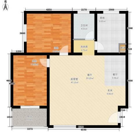鑫和花园2室0厅1卫1厨107.00㎡户型图