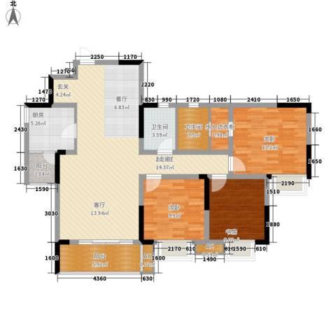 光华可乐小镇3室0厅2卫1厨137.00㎡户型图