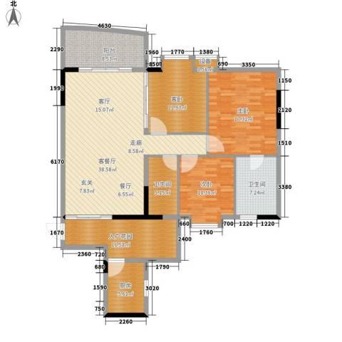 青春3室1厅2卫1厨131.00㎡户型图