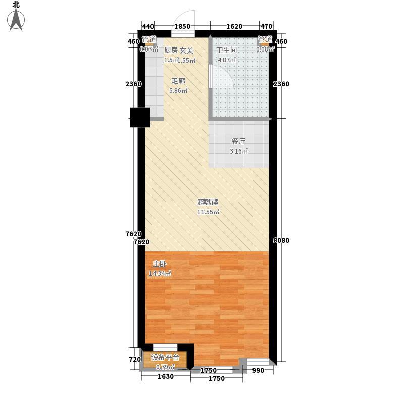 港城凯旋国际47.00㎡单身公寓户型