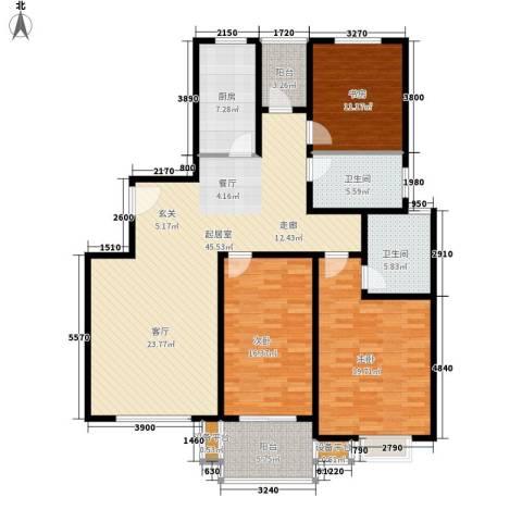 江南缘3室0厅2卫1厨136.00㎡户型图