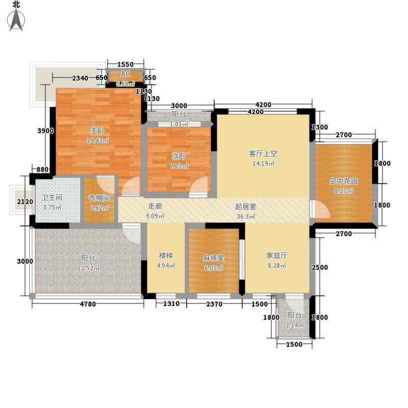 红树林178.59㎡3期5号楼跃上(已面积17859m户型
