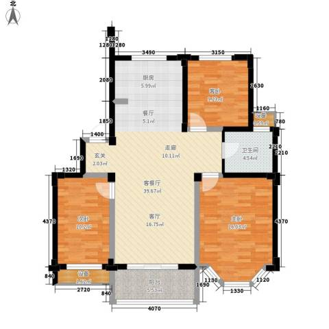 第六大道陆典庭院3室1厅1卫0厨100.00㎡户型图