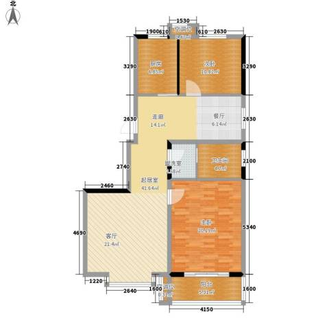 都市怡景2室0厅1卫1厨93.00㎡户型图