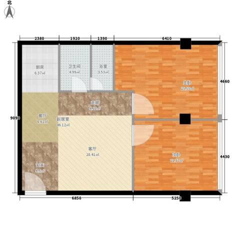 鼎泰精装公寓2室0厅1卫0厨120.00㎡户型图