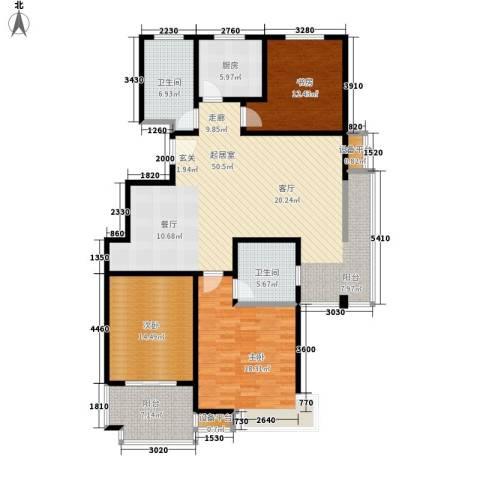 江南缘3室0厅2卫1厨138.00㎡户型图